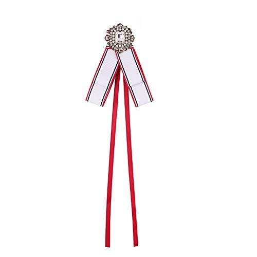 nbvmngjhjlkjl Nuevo Tejido Big Bow broches para Mujer Corbata de ...