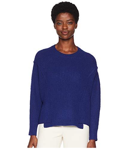 - Vince Women's Overlap Panel Sweater, Ink, Blue, Medium