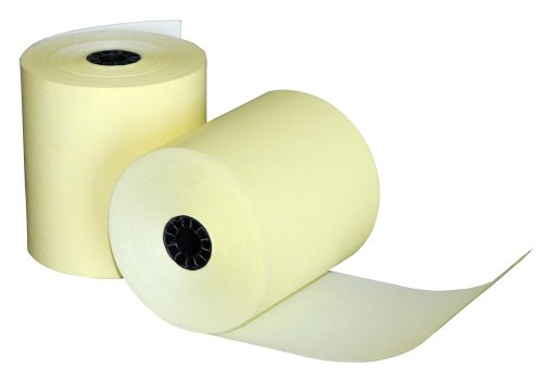 - Quality Park Single-Ply Black Image Thermal Paper Calculator and POS/Cash Register Rolls, 3.125 Inches x 230 Feet, Canary Yellow, Box of 50 (15617)