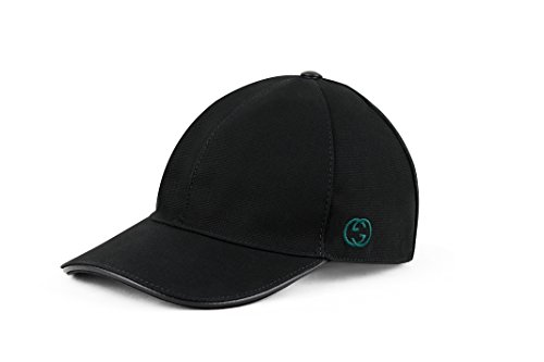 Gucci Cotton Canvas With GG Detail Baseball Cap, Black (Nero) 387554 (Large) - Gucci Cap Hat