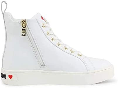 Love Moschino Chaussures Femme Sneakers Hautes JA15533G1AIF0100 Taille 38 Blanc