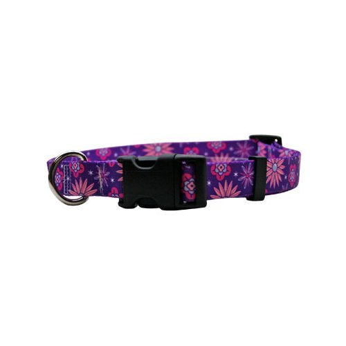 L Purple Flowers Martingale Control Dog Collar Size Large 26  Long Made In The USA