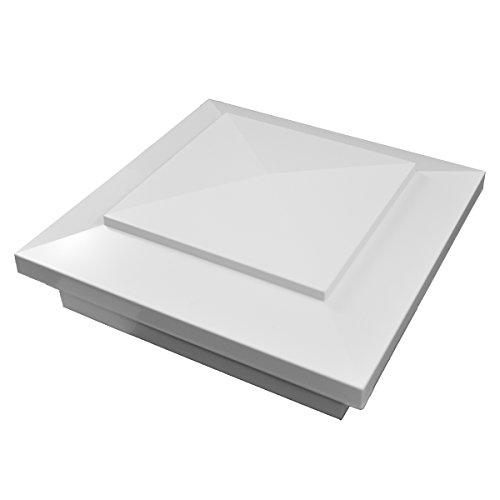 (Durable White PVC Vinyl Cape May Post Cap For A True 4 Inch X 4 Inch Post | Single Pack | AWCP-CAPEMAY-4)