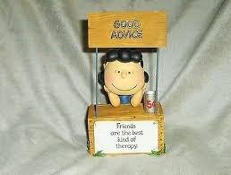 Hallmark Peanuts PAJ3503 Lucy At Her Booth Figurine (Lucy Van Pelt Figurines)