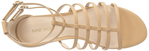Nine West Aboutthat sintético vestido de la sandalia Light Natural