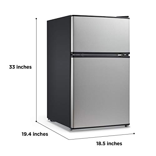 Midea WHD-113FSS1 Double Door Mini Fridge image 3