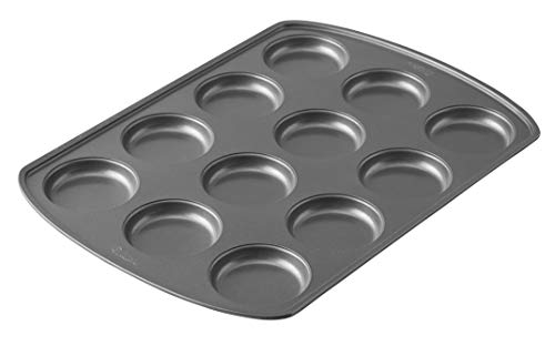 Wilton Muffin Top Pan Perfect Results Premium Non-Stick Bakeware, 12-Cup, Steel