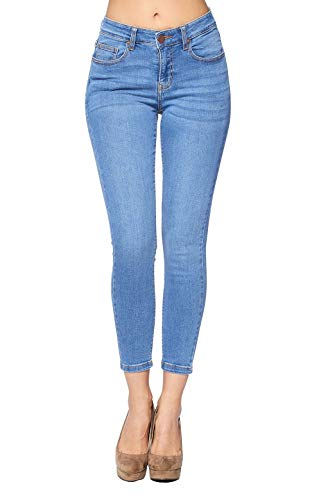 Blue Age Women's Ankle Skinny Jeans Stretch Denim (JP1102A_Light_13)
