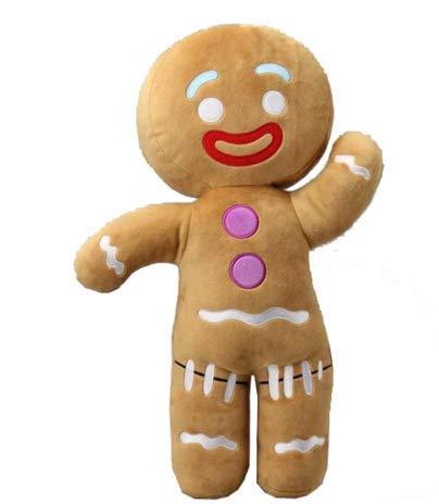 hhh INC 2017 Big Size 50CM Shrek Gingerbread Man Bigheadz Stuffed Plush Toys Cartoon Soft Doll Kids Gift ()