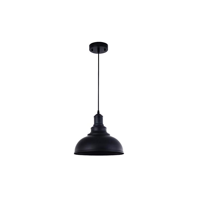 Pendant Lighting Metal Industrial Vintage Hanging Ceiling, Black, for Kitchen Home Lighting