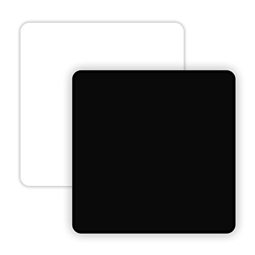 [NEW AND IMPROVED] Apex72 12''X12'' Non-Reflective and Reflective Black & White Acrylic Display Boards for Product Photography (Version 2.0)