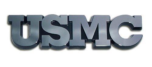 Marine Corps USMC Block Letters Chrome Premium Car Truck Motorcycle ()