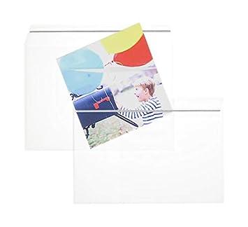 Enveloppes Lot de 100 enveloppes Transparent Film Enveloppes Longues enveloppes avec 2/ans Garantie de satisfaction avec bande adh/ésive Premium DIN 110/x 220/mm Verre Transparent Couverts