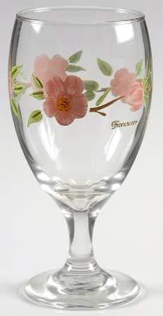 Franciscan Desert Rose 12 Ounce Glassware Goblet 7