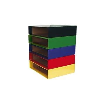 Caja Archivador De Palanca Carton Din A4 Rojo: Amazon.es: Oficina y papelería