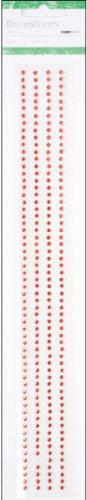- Self-Adhesive Red Rhinestone Strips - 12