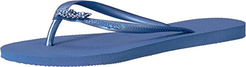 - Havaianas Women's Slim Lux Flip Flops Light Blue Sandal