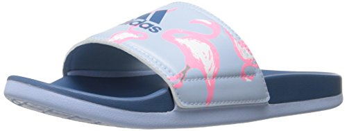 adidas Womens' Shoes | Adilette CF+ GR Athletic Slide Sandals, Core Blue/Easy Pink, (9 M US)