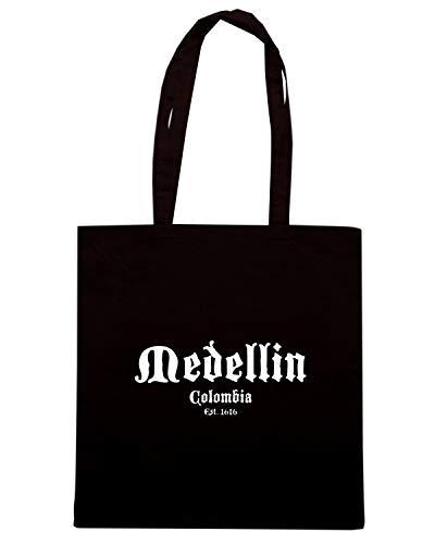 Speed Borsa Nera Shirt ESCOBAR MEDELIN TSTEM0189 PABLI COLOMBIA Shopper rTrxwA5n