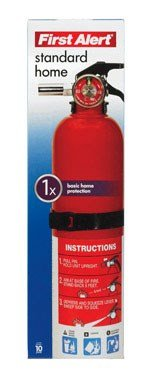 First Alert HOME1 ABC 2.5 Pound Rechargeable Fire Extinguisher-HOME1-1-A:10-B:C-10-Year Warranty, 1 Pack by First Alert