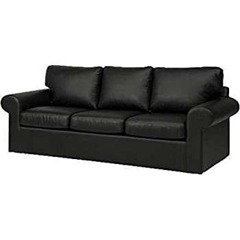 Sofa Cover Only! Faux Leather Ektorp 3 Seat Sofa Cover Replacement Is  Custom Made For