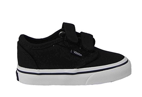 Vans Toddlers Atwood V  Black/White Skate Shoe 8 Infants US