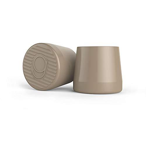 QUICK TIPS High Heel Protector & Heel Repair Caps - 2 Pairs (Small, Medium) Taupe