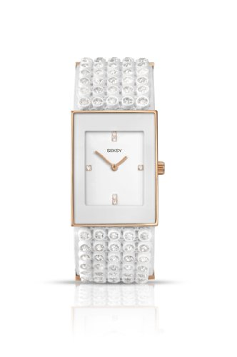 Seksy by Sekonda Women's Quartz Watch with White Dial Analogue Display and White Plastic Strap 4855.37 (For Watches Seksy Women)