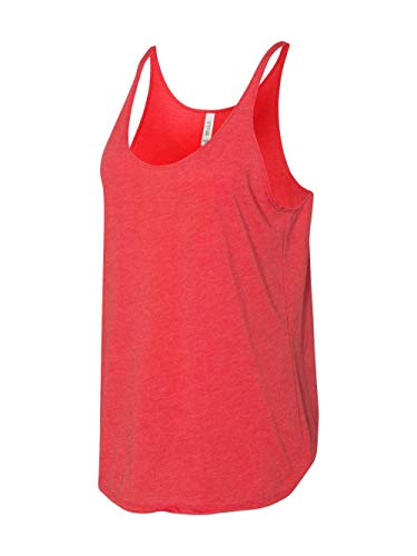 BE LADIES SLOUCHY TANK (RED TRIBLEND) (S)