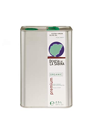 Dehesa de la Sabina - Premium, USDA Organic Extra Virgin Olive Oil from Sierra de Cazorla, Spain (Latest Harvest 2.5L/84 fl.oz)