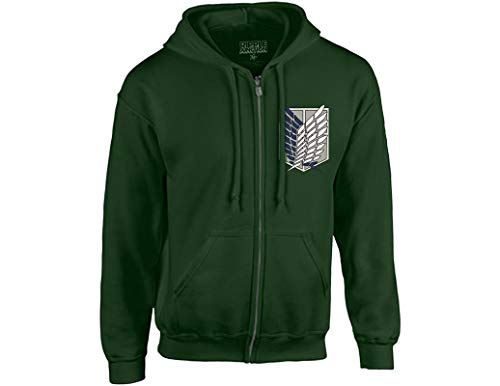 (Ripple Junction Attack on Titan Survey Corps Adult Zip Hoodie Medium Dark)