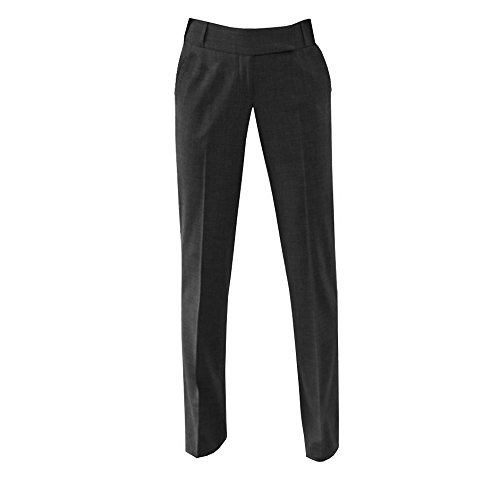 Brook Taverner Womens/Ladies Genoa Suit Trouser (18 x Regular) (Charcoal) by Brook Taverner