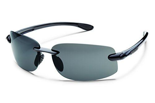 Suncloud Optics Excursion Sunglasses (Black with Gray Polarized - Sunglasses Action Optics