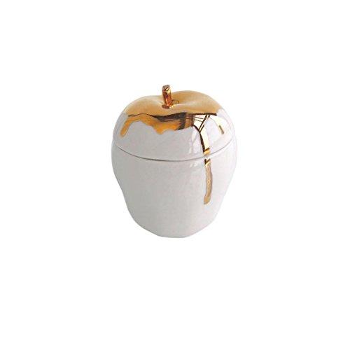 Michiko Shimada Apple Trinket Box | Gold/White (Sw Apple Accents)