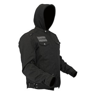 STREET & STEEL Anarchy Textile Motorcycle Jacket with Hoody - XL, Black