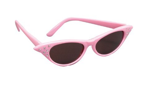 Pink Sunglasses 1950S Grease Pink Ladies Rock N Roll Fancy Dress by B&S - Grease Sunglasses