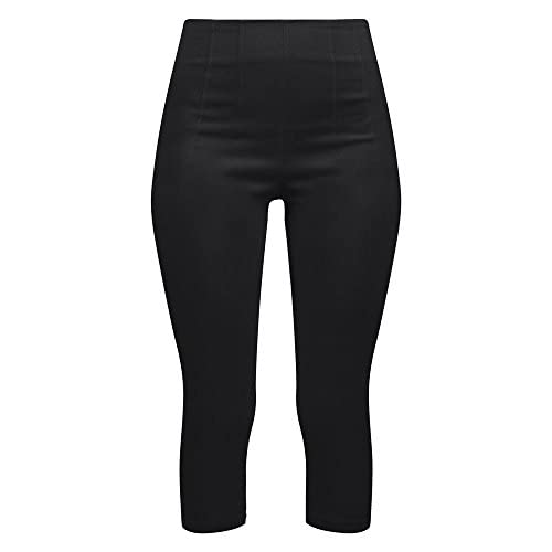 New Double Trouble Apparel Retro Gal High Waisted Pinup Capris in Black for sale