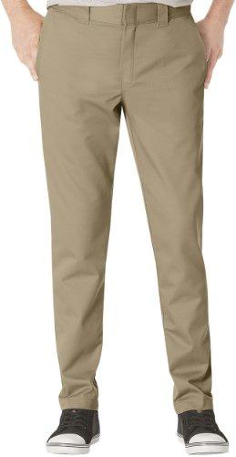Dickies Men's Slim Fit Tapered Leg Ring Spun Work Pants, Desert Sand, 28 x 30