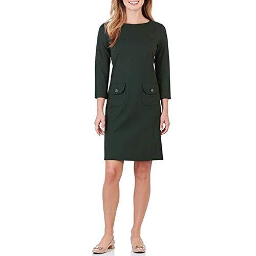 JUDE CONNALLY Womens Sabine Ponte Shift Dress Black Small