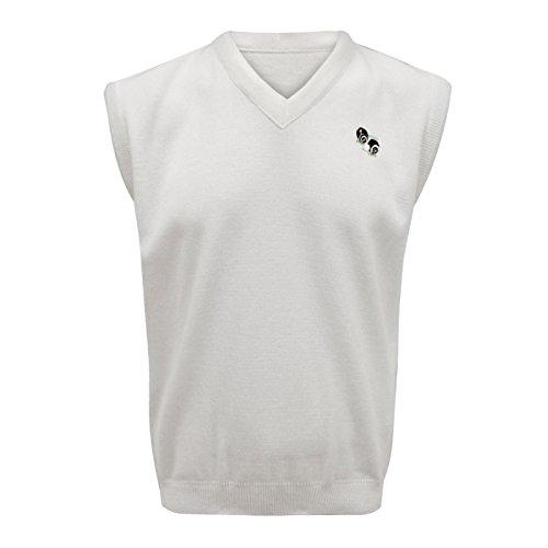Envy Boutique - Camiseta de tirantes - suéter - cuello en V - para hombre White Tank Top