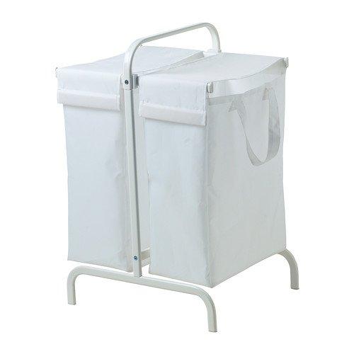 IKEA MULIG - Bolsa para ropa sucia con soporte, blanco - 65 l ...