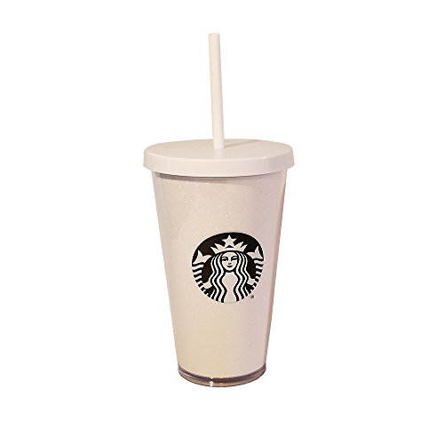 (Starbucks White Glitter Holiday Tumbler 16oz Grande Winter Holiday Collection)