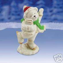 Lenox 2006 Skating Teddy Bear Christmas Figurine - Skating Lenox