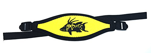 DXDiver Hogfish Neoprene Mask Strap Yellow, Scuba Diving, Mask, Dixie Divers, Comfort Adjustable, - Replacement Neoprene