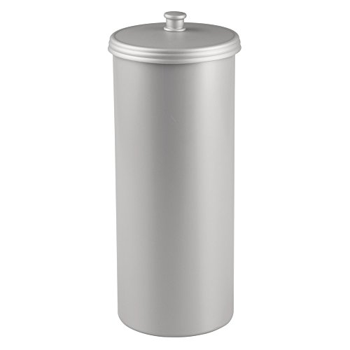 InterDesign Kent Free Standing Toilet Paper Holder – Spare Roll Storage for Bathroom, Silver - Freestanding Spare Toilet Roll