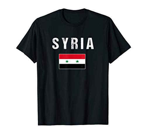- Syria T-shirt Syrian Flag - For Men/Women/Youth/Kids