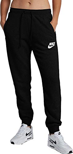 (Nike Women's Sportswear Rally Loose Fit Sweatpants (Black Heather/Black, X-Small))