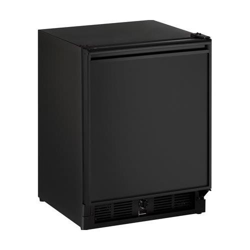 U-Line U-29RB-00A 21 ADA Series Energy Star ADA Compliant Compact Refrigerator with 3.3 cu. ft. Capacity Built In or Freestanding Door Shelves and Mechanical Dial Temperature Control: Black with Reversible