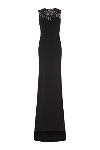 Schwarz Bronx Dynasty Damen 1012835 Schal Schwarz ohne Kleid Stil Langes EOTRq5wT