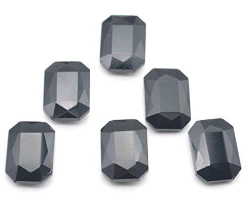 - Catotrem Glass Diamante Faceted Octagon Rectangle Rhinestone Pointback Stone for Arts Crafts 10X14mm 50Pcs(Black)